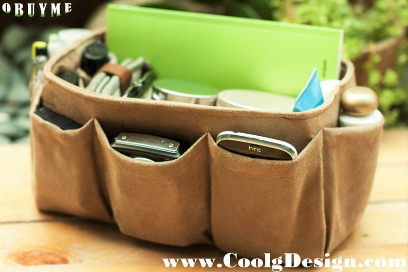 Gift for her Christmas gift Ready to ship Faux Suede Bag Organizer Insert Clearance