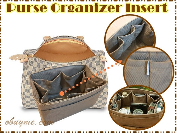 86b8dfe2570 Purse Organizer insert For Louis Vuitton Speedy 25 lv speedy 30 Perfect for  unstructured bags light brown made to order