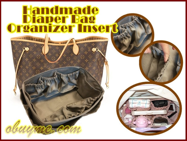 fd761767c89d Best diaper bag organizer insert for Louis Vuitton Neverfull GM handbag  with ela... Best diaper bag organizer insert for Louis Vuitton Neverfull GM  handbag ...