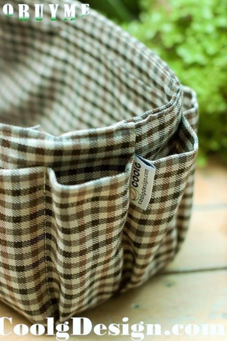 purse organizer insert keeps everything organized in purse brown plaid Large 25x10cm