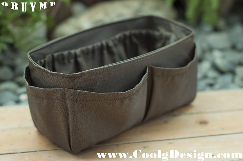 brown practical and Easy to Use Large 25x10cm Handbag organizer insert
