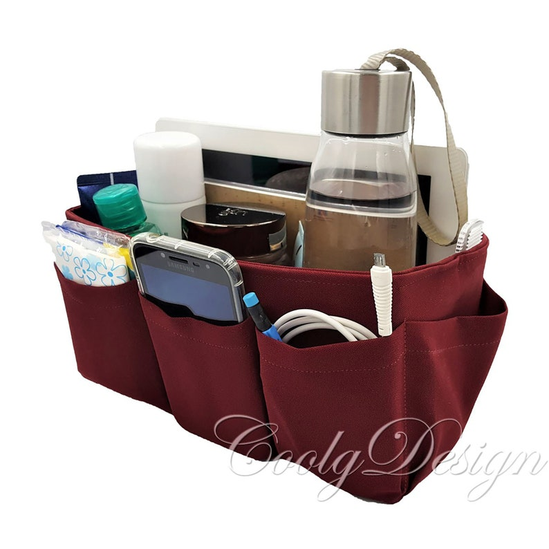 Purse organizer insert with extra sturdy bottom Solid Red image 0