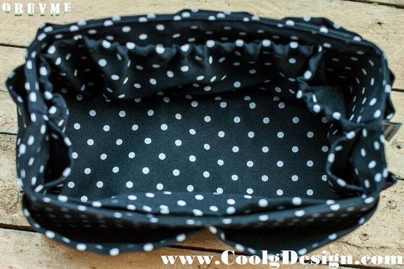 Blue Polka Dot Purse Organizer Insert For Louis Vuitton Bag image 0