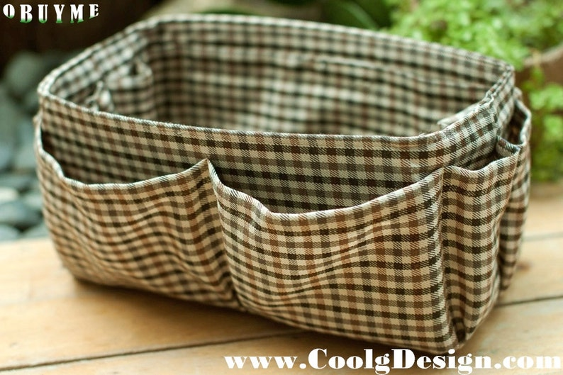 Brown Plaid Purse Insert For Extra Large Hot Sale Item image 0