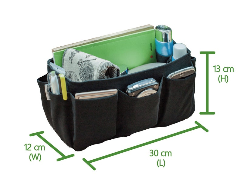 388f3d76075 Extra Large Purse organizer insert extra sturdy for large tote bag solid  black