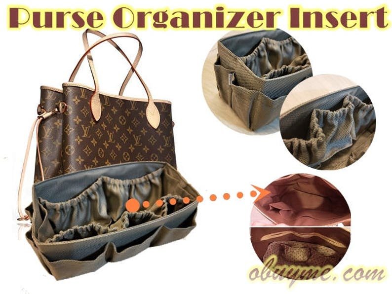 38985b8f74ff Diaper bag insert purse organizer Louis Vuitton Neverfull MM