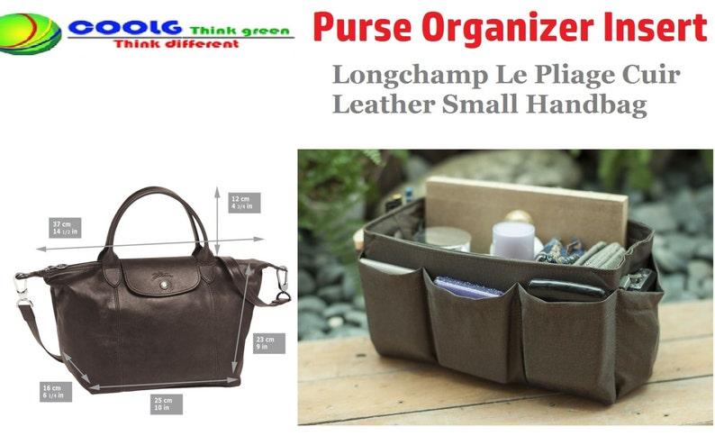 Purse Organizer Insert fit with Longchamp Le Pliage Cuir  d3e9dbed7e1d9
