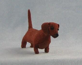 Dachsund Soft Sculpture Miniature Dog by Marie W. Evans