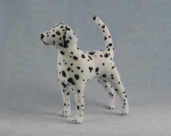 Dalmatian Soft Sculpture Miniature Dog by Marie W. Evans