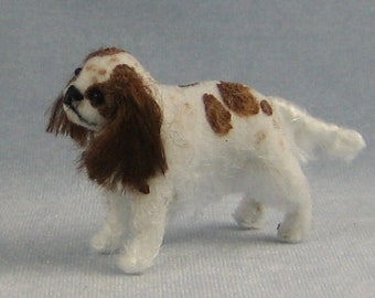 Cavalier King Charles Spaniel Soft Sculpture Miniature Dog by Marie W. Evans