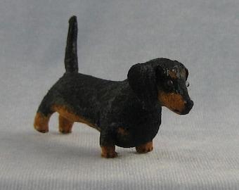 Dachsund Soft Sculpture Miniature by Marie W. Evans