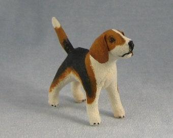 Beagle Soft Sculpture Miniature Dog by Marie W. Evans