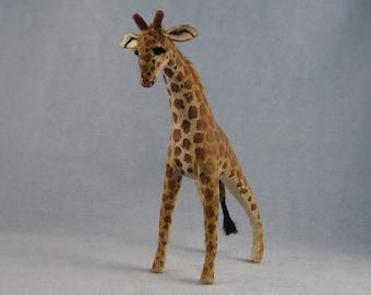 Giraffe Soft Sculpture Miniature Animal by Marie W. Evans