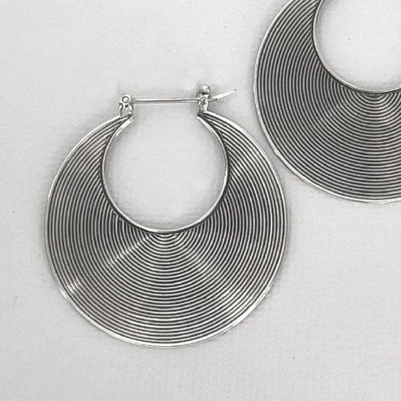 Plated Silver Design by . Textile Jewellery Fiber Beaded Hoop Earrings Pastel Fibre Jewelry Boho Earrings Jewelry ra\u00efz ..