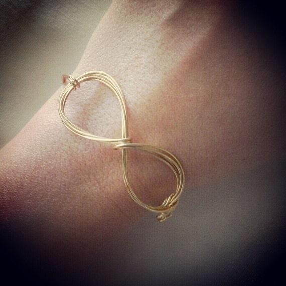 Items Similar To Infinity Wire Bracelet On Etsy