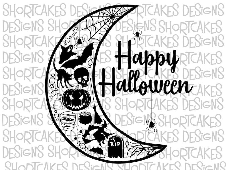 Halloween Half Moon Digital Download Svg/Png/Jpeg/PDF image 0
