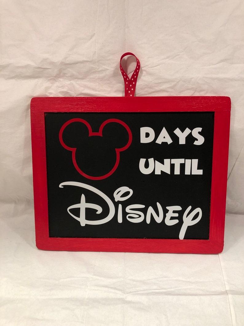 Disney Countdown Chalkboard Sign image 0