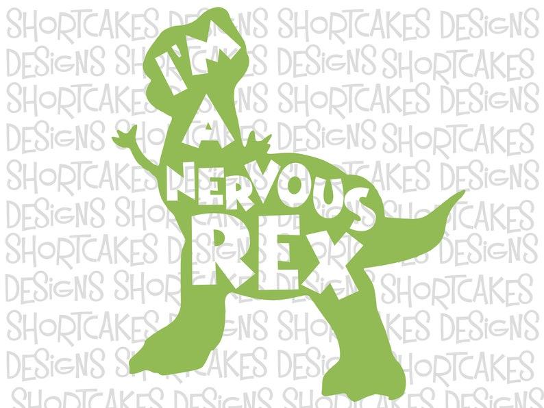 Nervous Rex Digital Download Svg/Png/Jpeg/PDF/Sil image 0