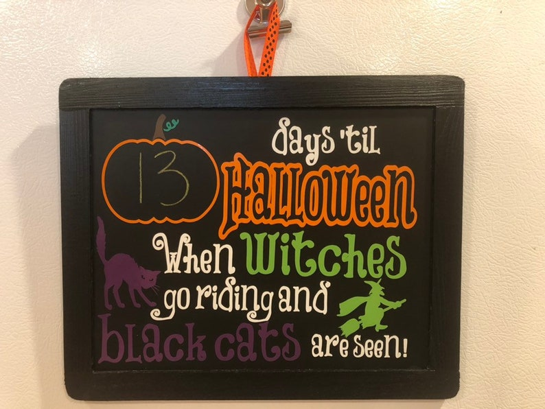 Halloween Countdown Chalkboard Sign image 0