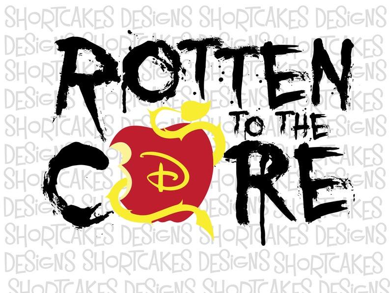 Digital Download Descendants Rotten To The Core SVG/PNG/JPEG image 0