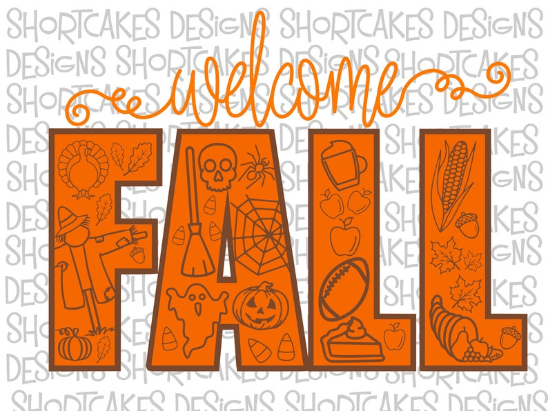 Welcome Fall Digital Download Svg/Png/Jpeg/PDF/Sil image 0