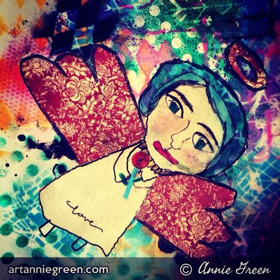 Mixed Media: angel