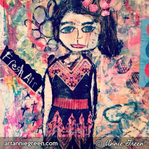 Mixed media:  Fashionista