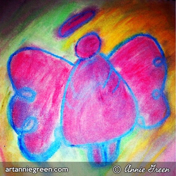 mixed Media:  Angels Flying Free