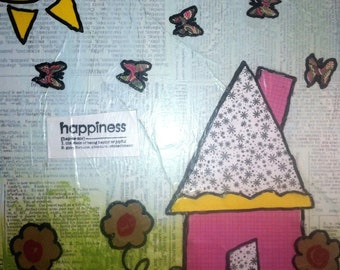 Happiness Nursery Art