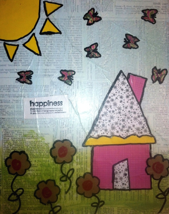 Happiness Nursery Art