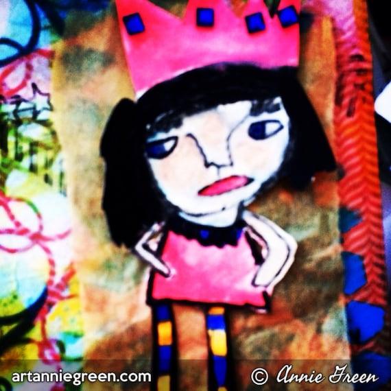 Mixed Media:  Princess