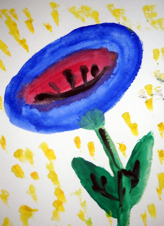 Abstract Painting.  Flower.