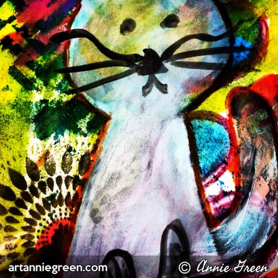 Mixed Media:  Cat