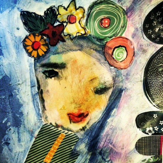 Mixed Media: Flower Girl
