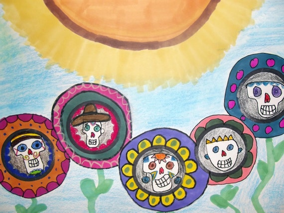 Sugar Skull Garden:  Folk Art