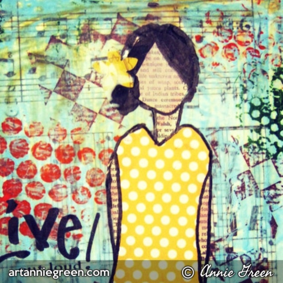 Live Out Loud mixed media
