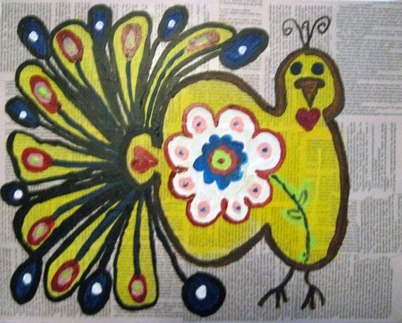 Folk Art Original Painting