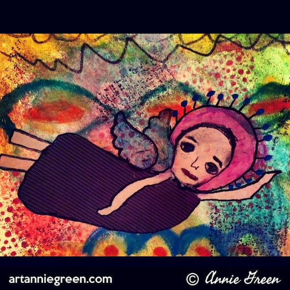 Mixed Media:  Angel Art