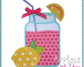 Lemonade Jar Applique Design