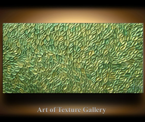 Abstract Texture Painting 48 x 24 Original Modern Green Sage Etsy