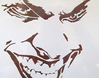 Joker Stencil Etsy