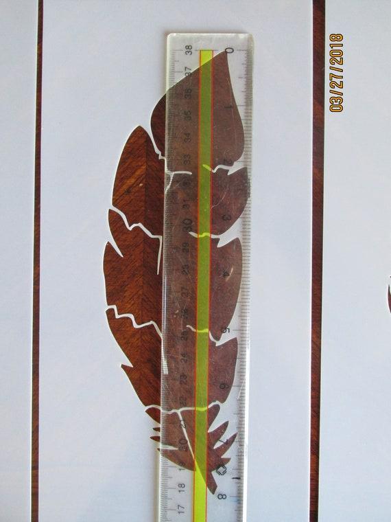 Feather Stencil//Template 5 Pack Reusable See Description