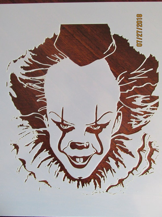 IT Pennywise Evil Clown Stencil/Template Reusable 10 mil ...