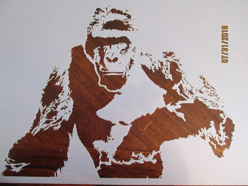 a55965b764e54 Harambe Gorilla Stencil/Template Reusable 10 Mil Mylar