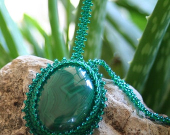 Natural Malachite Gemstone necklace