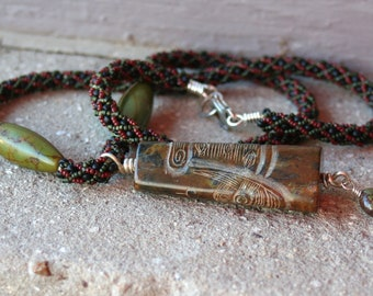 Mens or WomensTurquoise Totem Necklace - OOAK