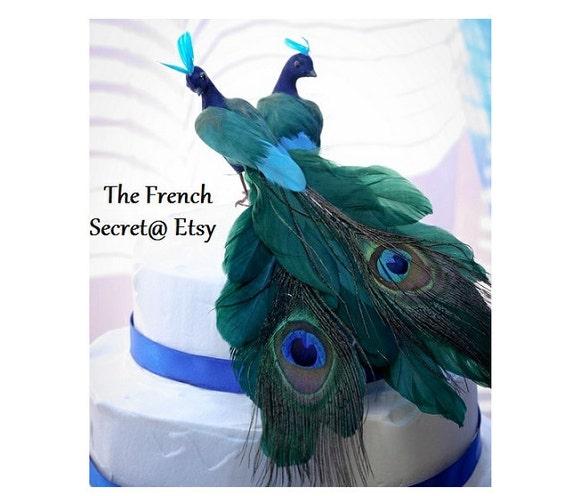 Peacock Wedding Ideas Etsy: Rustic Wedding Peacock Cake Topper Centerpiece Decoration