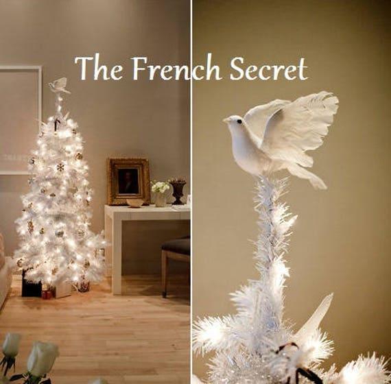 image 0 - Christmas White Dove Tree Topper Decoration Shabby Chic Etsy