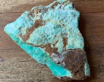 Natural Chrysoprase in matrix stone for making jewelry Very Rare Chrysoprase in matrix stone Unique Chrysoprase...