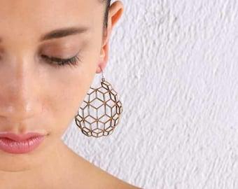 Geometric Earrings - Optical Illusion - Boho Jewelry